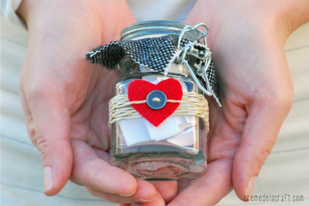 DIY Craft Make Gift Idea Valentines Day Anniversary 10 Things Love You Mason Jar 634x423 - 6 Dicas de DIY para o dia dos namorados