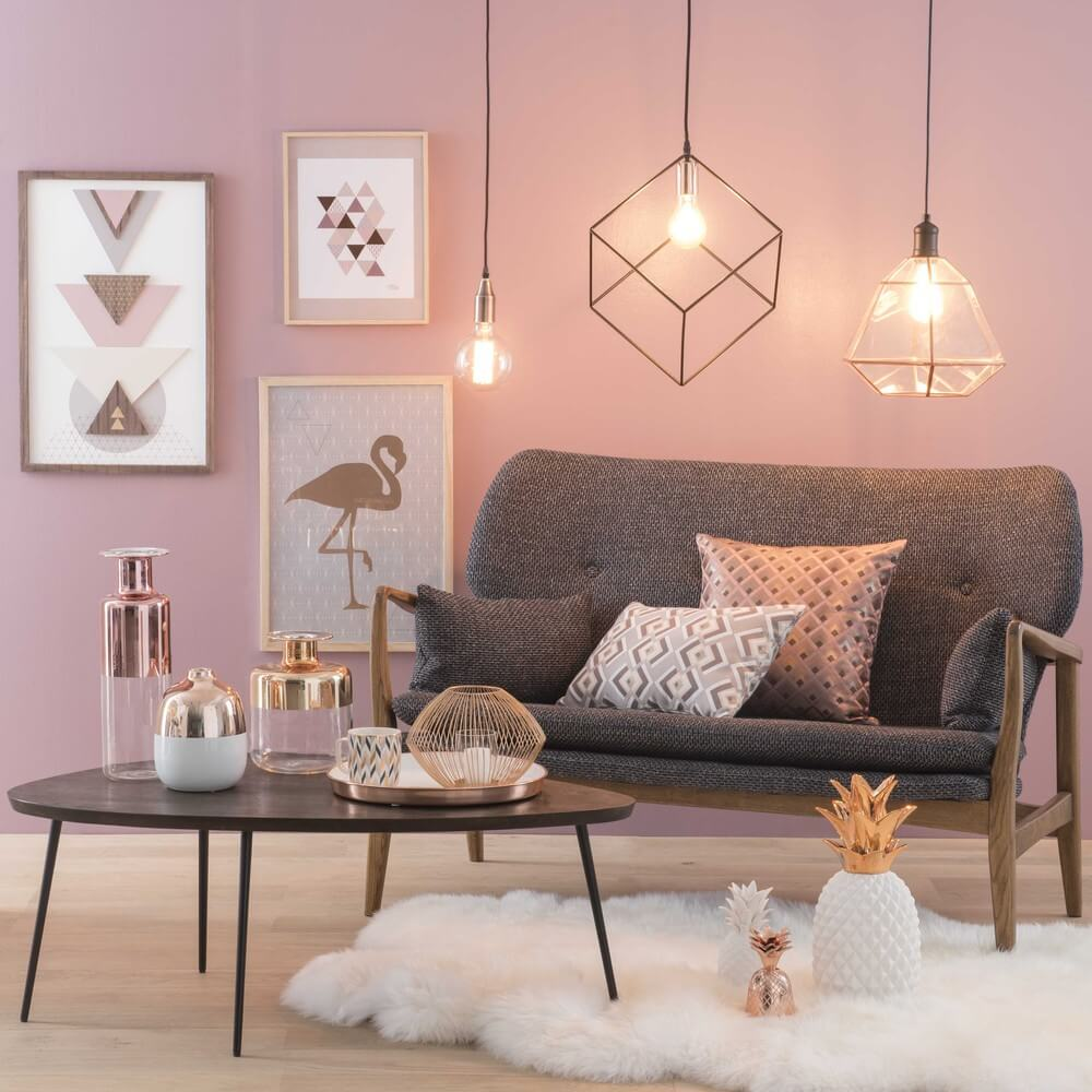 pink and gold living room como usar a decora 231 227 o gold nos c 244 modos da casa 19952